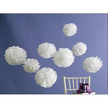 Martha Stewart Crafts Pom Poms, Medium White