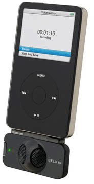 Black Belkin Tunetalk Stereo Voice Recorder For Ipod, Compatible With