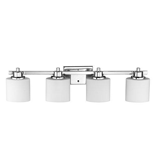 Chloe lighting ch821036cm33 bl4 contemporary 4 light for Modern chrome bathroom vanity lighting