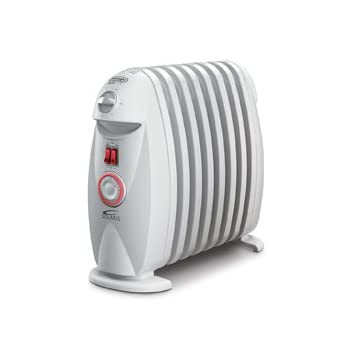 Effectively heat any room of the house, even the bathroom, with the compact De'Longhi portable oil-filled radiator.  No more bitter cold air right after a hot shower, with the convenient GFI plug it's safe to use in the bathroom.  The heater produces...