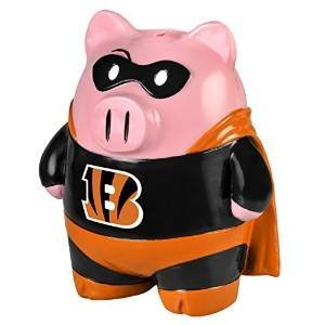 Forever Collectibles - Cincinnati Bengals Piggy Bank - Large Stand Up Superhero