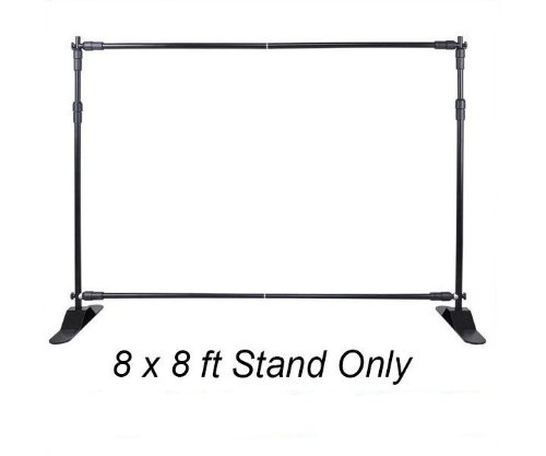 Best Deal Depot 8' X 8' Backdrop Telescopic Step And Repeat Banner Stand For Trade Show