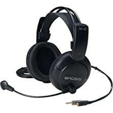 """buy Koss Corporation - Koss Sb40 Headset - Stereo - Black - Mini-Phone - Wired - 120 Ohm - 20 Hz - 20 Khz - Gold Plated - Over-The-Head - Binaural - Ear-Cup - 9 Ft Cable - Condenser, Electret Microphone """"Product Category: Audio Electronics/Headsets/Earsets"""""""