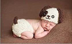 Puppy, born Baby Girl Boy Crochet Knit Costume Photo Photography Prop Hats Outfits (Batman) from Dtailz