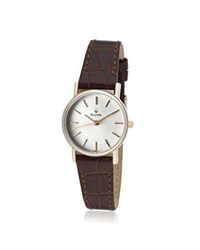 Bulova Women's 98V31 Genuine Leather Watch