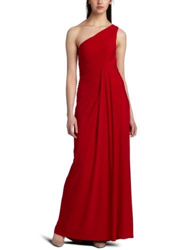 ABS Allen Schwartz Women's Asym Front Draped Gown