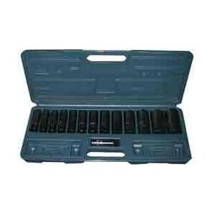 15-Piece 1/2-Inch Drive Deep Impact Socket Set, Metric