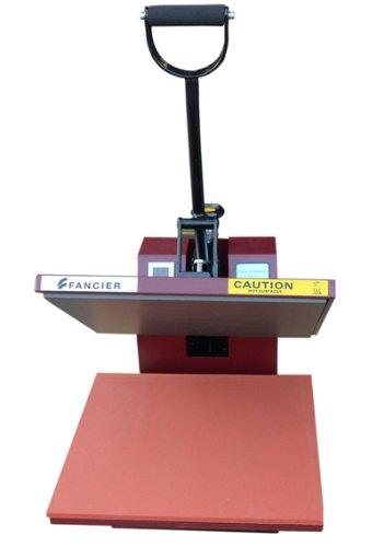 Fancierstudio Sublimation T-Shirt Heat Press, Red Black 15 by 15-Inch