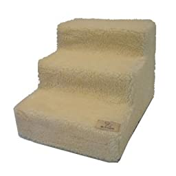 Pet Steps in White Lambswool (4 Steps)