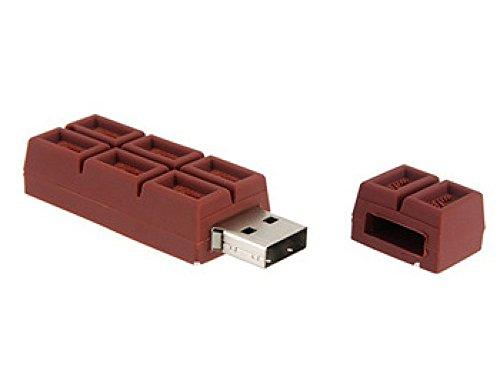 Pechon - Chiavetta USB, modelli assortiti Forma a barretta di cioccolato 4GB