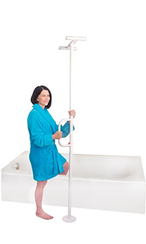 Able-Life-Universal-Floor-to-Ceiling-Tension-Mounted-Grab-Bar-and-Mobility-Transfer-Pole-Fits-Ceilings-7-9-Feet-Lifetime-Warranty-White