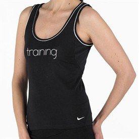 Nike da donna bianco e nero senza maniche t shirt Canottiera da allenamento-XS-Regno Unito 6-8