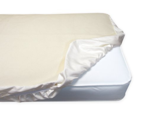 Naturepedic Non Waterproof Organic Cotton Flannel Pad Crib Fitted