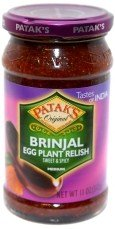 Pataks Original Brinjal Eggplant Relish - Sweet Spicy Medium - 11oz by Patak's
