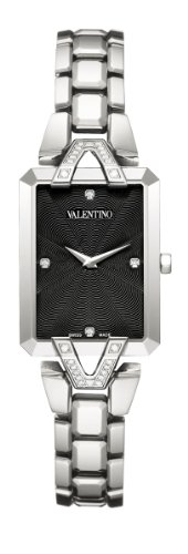 Valentino Women's V36SBQ9109SS099 Gemme Rectangular Stainless Steel 28 Diamonds Watch