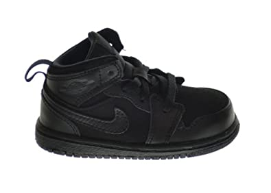 Buy Air Jordan 1 Mid (BT) Baby Toddlers Basketball Shoes Black 640735-011 by Jordan