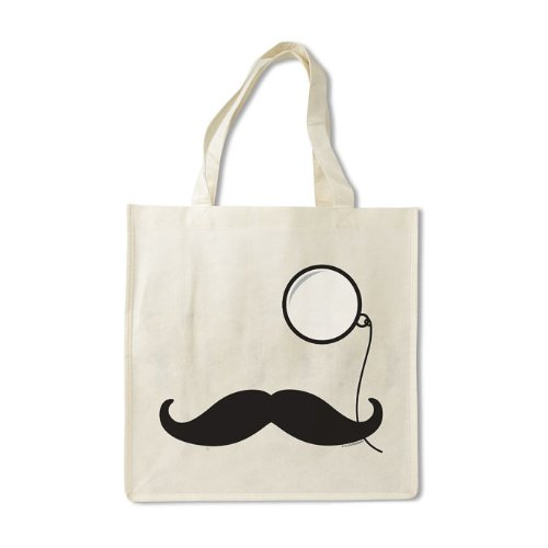 Accoutrements Mustache and Monocle Bag-For Stylish Shopping!