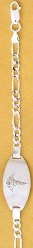 Sterling Silver Chain Medical Bracele…