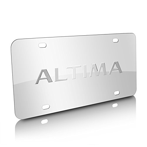 Nissan Altima Chrome Stainless Steel License Plate (Nissan Chrome License Plate compare prices)