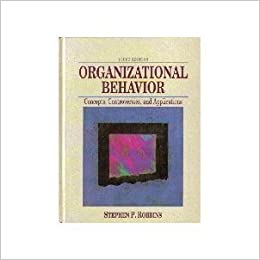 organizational behavior and concepts Organizational behavior concepts there were many different organizational  behavior concepts introduced in this chapter describe a few and.