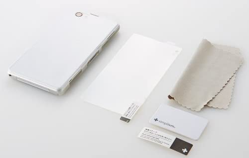Simplism Xperia Z1 f SO-02F クレードル対応 薄型カバー & 保護 フィルム セット クリアホワイト TR-UTXPZ1F-WT