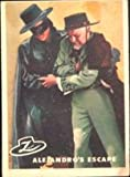 1958 Topps Zorro by Disney (Non-Sports) Card# 66 Alejandros escape VG Condition