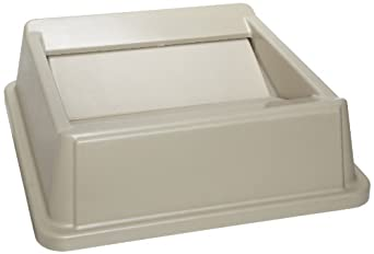 Rubbermaid Commercial HIPS Untouchable Trash Can Swing Top, Square