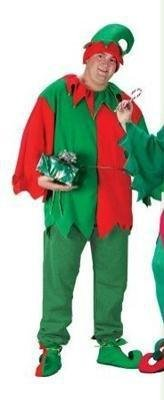 Unisex Playful 5-Piece Christmas Elf Costume Set - Adult Size