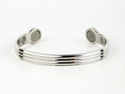 Chrome Triple Band Super Strong 6 Magnet Copper Health Bracelet