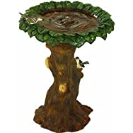 Tree Bird Bath Fountain-TREE BIRD BATH FOUNTAIN
