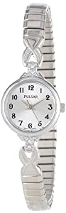 Pulsar Women's PPH549 Expansion Crystal Accented Silver-Tone Stainless Steel Watch