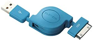 ELECOM MPA-IRLC08BU Charging/Data Transfer Cable for iPhone (Blue)