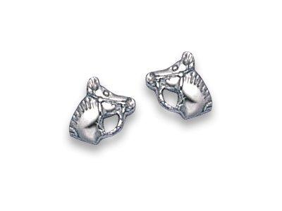 In scatola regalo di Natale, a forma di cavallo in argento Sterling, orecchini con perno, dimensioni: 7 mm, spedito senza indugio 5017. di prima classe della posta.