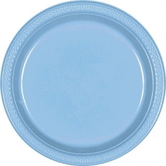 "Powder Blue 7"" Plastic Plates 20ct"
