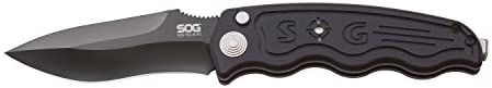 SOG-TAC Automatic - Tactical Drop Point Black TiNi