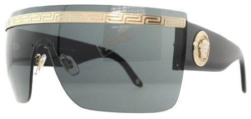 a7c95ec4b92e Versace 2130 125287 Black 2130 Visor Sunglasses