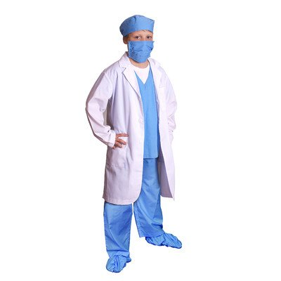 Jr. Boy's Physician Costume in Blue Size: 2/3, Color: Blue