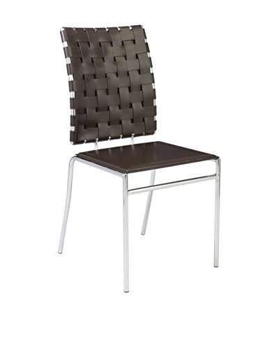 Eurostyle Carina Side Chair, Brown
