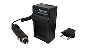 Kodak Easyshare Mini M200 Digital Camera Battery Charger Mini Battery Charger Kit For Kodak KLIC-7006 Battery - Replacement For Kodak Kodak 1221902 Charger - (110/220v with Car & EU adapters)