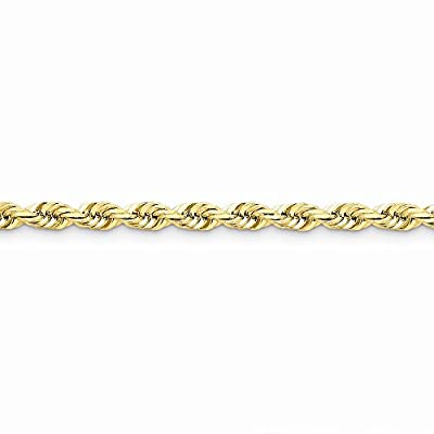 14k Gold 5.5mm D/C Rope with Lobster Clasp Chain 9 Inches