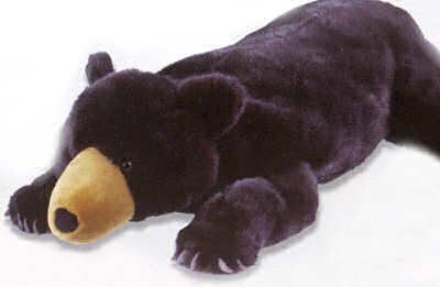 Buy Stuffed Floppy Black Bear