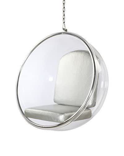 Manhattan Living Bubble Hanging Chair, Silver