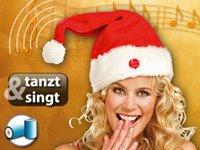infactory Singende und tanzende Nikolausmütze