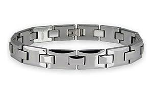 Tungsten Carbide High Polished Men's Link Bracelet 7