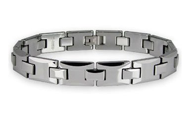 Tungsten Carbide High Polished Men's Link Bracelet 8