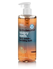 bliss® Vanilla+Bergamot Soapy Suds Body Wash & Bubbling Bath 470ml
