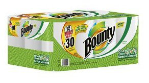Bounty Huge Roll (2.5X Regular), 2 Ply, White-12pk
