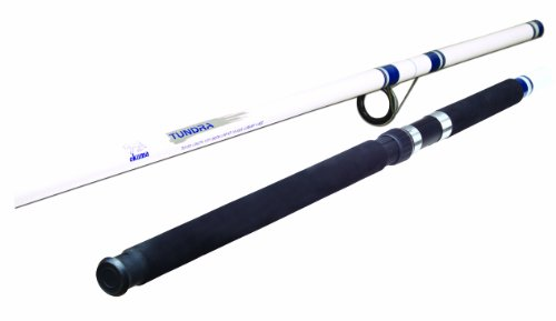 Okuma Fishing TU-150 Tundra 15-Foot 3-Piece Surf/Pier Spinning Rod (Large, White/Blue)