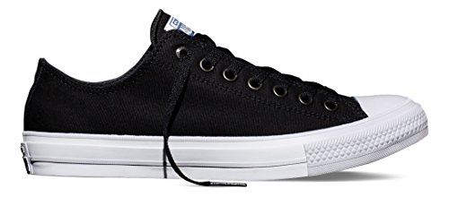 Converse Unisex Chuck Taylor II Ox Black/White/Navy Casual Shoe 8.5 Men US / 10.5 Women US