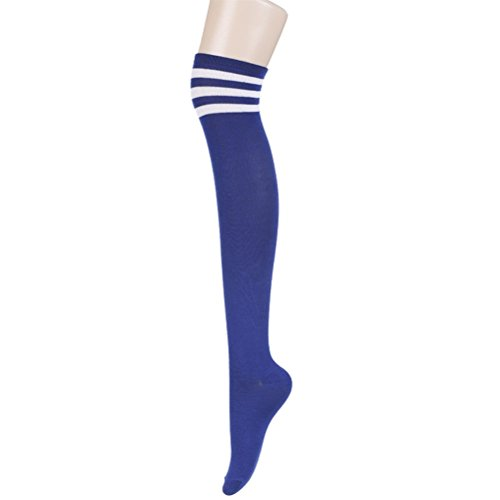 Bluetime Womens Japanese Style Striped Thigh High Stockings Socks Series